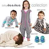 baby deedee Sleep Nest Teddy Baby Sleeping Bag, Silver Plum, Small (0-6 Months)