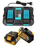 2 baterías BL1850 de 18 V y 5000 mAh de repuesto y...