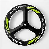 Aurora Racing Super 70mm 3K Route 3Spoke Carbone Roues Poids léger 700C en fibre de carbone tubulaire OEM Roues de vélo de route en carbone, Road Front Wheels