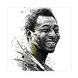 Abstrakte Kunst, Der König des Fußballs, Pelé-1