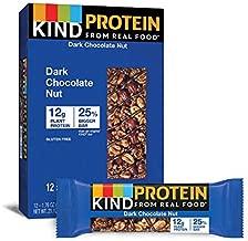 KIND Protein Bars, Double Dark Chocolate Nut, Gluten Free, 12g Protein,1.76oz, 12 count