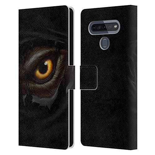 Head Case Designs Licenciado Oficialmente Christos Karapanos Ojo de Hombre Lobo Horror 3 Carcasa de Cuero Tipo Libro Compatible con LG K51S