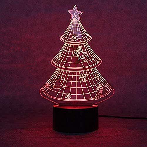 ZWANDP Luz nocturna para niños, lámpara de ilusión, 7 colores regulables con tecnología táctil USB, mejor regalo para niños, niñas y niños