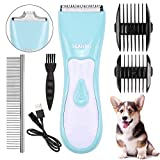 seanme Dog Clippers Washable, New Upgrade Waterproof 2 in 1 Pet Grooming Kit with Double Blades Professional Electric...