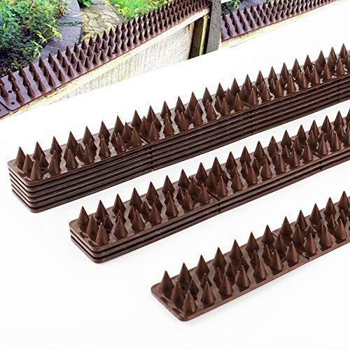 Forever Speed 10pcs x Taubenabwehr Vogelabwehr Spikes Spatzenabwehr Taubenspikes Stacheln Braun 49 x 4,5 x 1,7 cm (L x B x H) (10*49cm=490cm lang)
