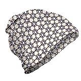 ABAKUHAUS Moderno Gorro Unisex, Imágenes abstractas de Las Estrellas Azules, Tela Suave 100% Microfibra Estampada Ideal para Actividades al Aire Libre, Caramelo de Cuarzo y Negro