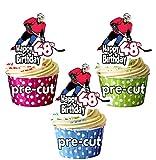 Adornos comestibles para cupcakes y tartas (12 unidades), diseño de hockey sobre hielo