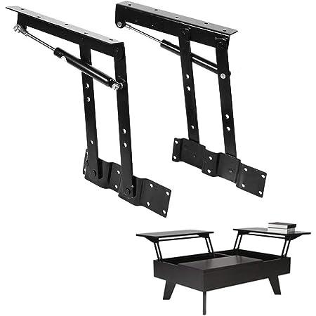 1pr Folding Lift up Top Table Hardware Fitting Hinge Spring Standing Desk Frame