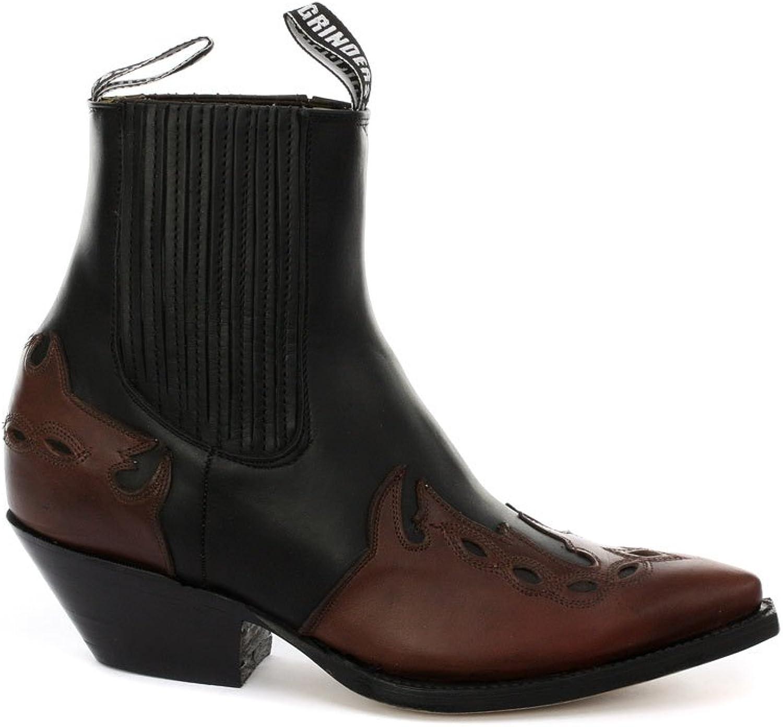 Grinders Arizona Lo Black Burgundy Mens Cowboy Boots