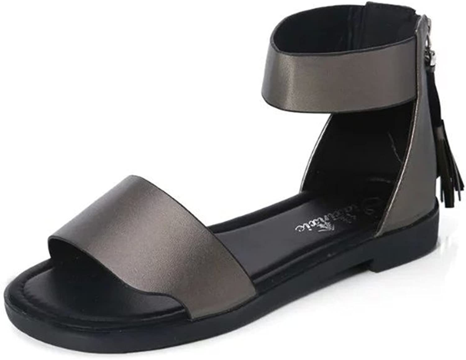 SUNNY Store Women's Ankle Strap Gladiator Flat Sandals