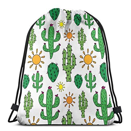 Cactus Sun Coulisse Bag Bambini Zaino Zaino Uomo Donna Borsa Da Viaggio per Picnic Palestra Sport Spiaggia Viaggi