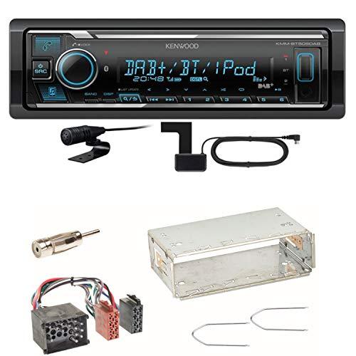 Kenwood KMM-BT505DAB Bluetooth Digitalradio Autoradio DAB+ USB AUX MP3 FLAC AAC WAV Einbauset für BMW E30 E34 E32