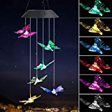 EEEKit Butterfly campanelli eolici solari, Solar Powered Windchime Cambia Colore LED Lampa...