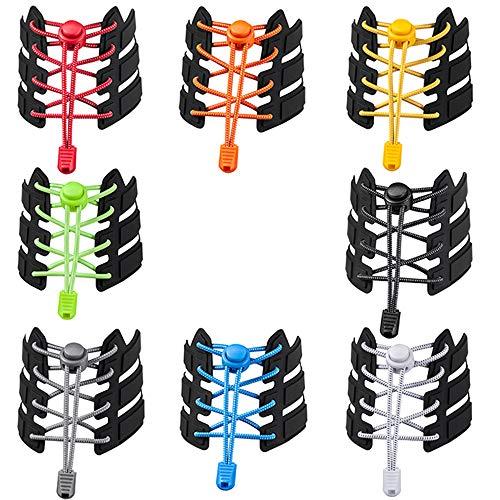 AUHOTA 8 Paar verstellbare Schnürsenkel ohne Krawatte, Upgraded Schnellschnürsystem mit Sperren, Praktische Schnürsenkel aus tielosem Schnürsenkel für Turnschuhe Stiefel Freizeitschuhe (8Farben)