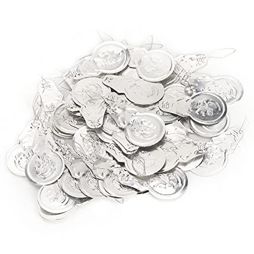 Passador de agulha, alça de fio de 100 unidades para idosos Guia de agulha para fabricação de joias para enfiar contas(Double insurance)