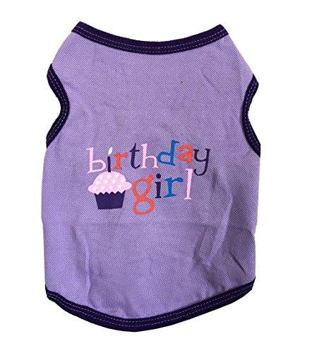 ZoonPark® Puppy Hund Haustier Kleidung Haustier Hund Geburtstag Kleidung Weste T-Shirt für kleine Hunde Welpen Haustier Kleidung