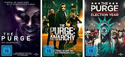 The Purge - Teil 1 + 2 + 3 ( die Säuberung + Anarchy + Election Year) im Set - Deutsche Originalware [3 DVDs]