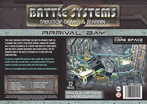 Battle Systems Bahía De Llegada del Terreno De Ciencia Ficción Escenario 3D Modular - Juego De rol De Warhammer 40K En Miniatura De 28 mm - Espacio Central BSTSFE001