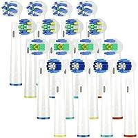 ITECHNIK Recambios Cepillo Compatible Oral b,cabezales de repuesto Compatible eléctrico Pro 700 Pro 5000 Pro 6500, 4 Precision EB20,4 Floss EB25,4 Cross EB50,4 Whitening 3D EB18