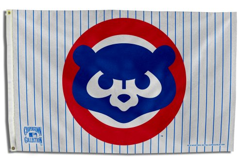 Rico Industries FGBC531984 MLB Chicago Cubs 1984 Cooperstown 3 by 5 Banner Flag