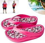 CLXD - Chanclas de masaje portátil antideslizante para mujer, para hombre, impermeable, antideslizante, para viajes, baño, sandalias de playa 827 (talla L: grande)