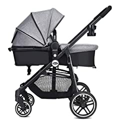 ❤FOLDABLE INFANT STROLLER & REVERSIBLE BASSINET PRAM:In order to meet the different use needs, this stroller has special 2-in-1 design. As a landscape design toddler stroller, your baby can enjoy the outside scenery and also free from automobile exha...