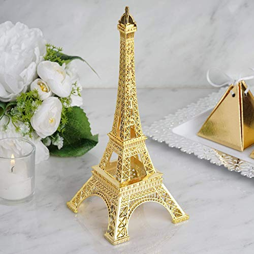 "Efavormart 10"" Eiffel Tower Birthday Banquet Event Wedding Party Event Tabletop Centerpiece High Detail Decoration - Gold"