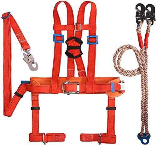 Imbracatura di sicurezza, imbracatura da arrampicata per lavori su alberi Imbracatura anticaduta per clip da giardino, protezione anticaduta, adatta p