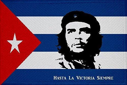 U24 Aufnäher Kuba mit Che Guevara Hasta Peace 16 Fahne Flagge Aufbügler Patch 9 x 6 cm