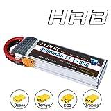 HRB RC Batterie Lipo 3S 50C 11.1V 5000mAh Prise XT60 pour Modélisme Drone Hélicoptère Avion Voiture Camion Truggy Bateau (XT60/T/EC3/XT60/TRX/Tamiya/)