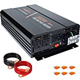 aeliussine Power Inverter 2000W Pure Sine Wave 12v DC to AC 120v Peak 4000 Watt Converter with LCD Display USB Charge Port for Car...