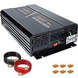 aeliussine Power Inverter 2000W Pure Sine Wave 24v DC to AC 120v Peak 4000 Watt Converter with LCD...