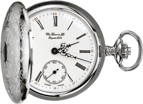 [ティソ] 懐中時計 サボネット メカニカル 手巻き ホワイト文字盤 チェーン付き T83640113 正規輸入品