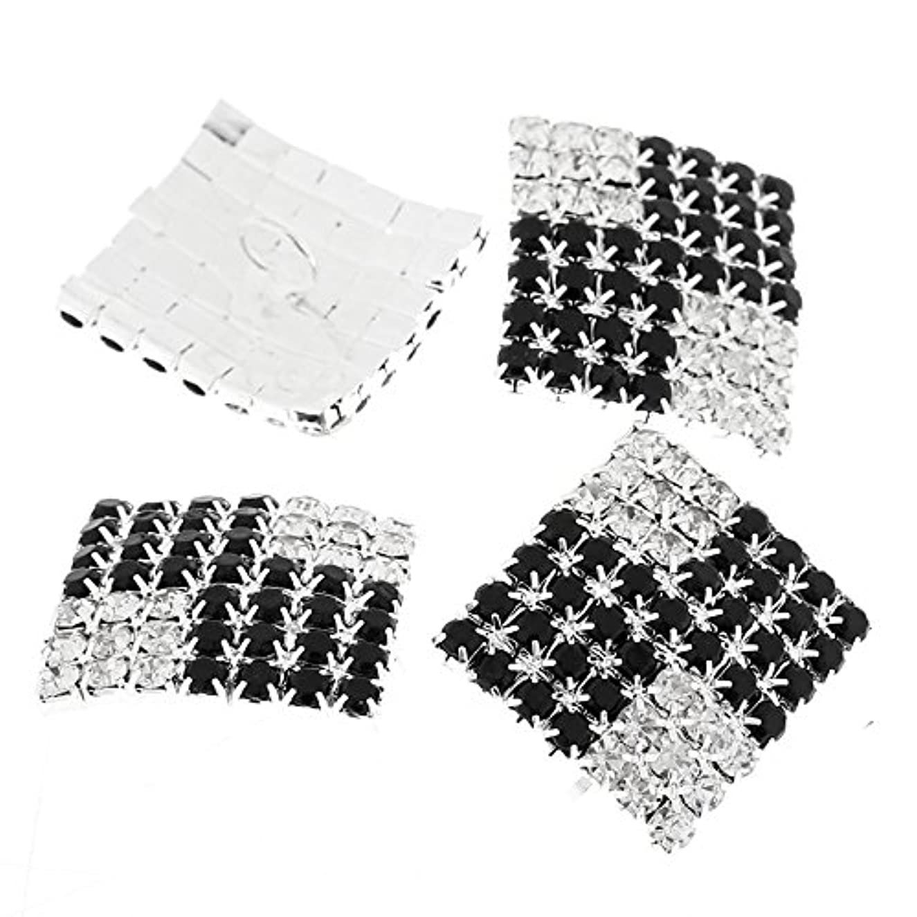 PEPPERLONELY Brand 3PC Silver Plated Diamond Scrapbooking Sewing Rhinestone Buttons 28x25mm(1-1/8x1 Inch)