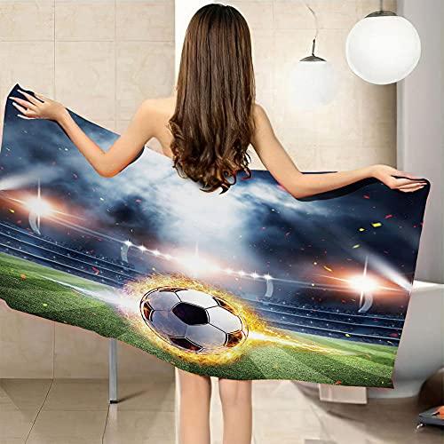 Toallas de Playa 3D Toalla de Playa para Viaje Yoga Deporte Gimnasio 80x130 cm fútbol Americano QWEFGDF