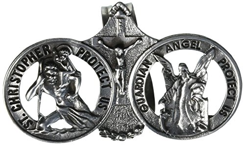 Cathedral Art Auto Visor Clip, St. Christopher/Guardian Angel