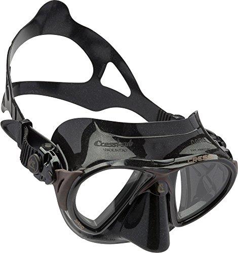 Cressi Nano 97 - Máscara de buceo, color negro / marrón
