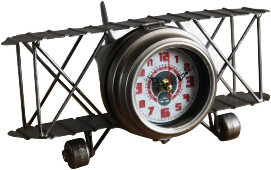 zZZ Retro Old Wrought Iron Airplane supreme De Clock Home Model Creative Max 76% OFF