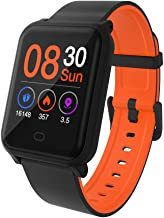 Hoteon Color Screen Fitness Watch, IP67 Waterproof Smart Activity Tracker with Heart Rate Monitor,Pedometer,Calorie Counter,Sleep Monitor, SMS/SNS Alert H706 (Orange)