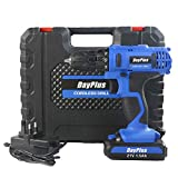 Powerful Cordless Drill Set & Screwdriver 21V 45N.m Impact Drill, Variable Speed, 18+1 Torque Setting w/Forward Reverse Switching for DIY Home Office Garden Kitchen Project