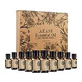 N\C AKARZ Hots 10 Sets Sandalwood,Musk,Lavender,Jasmine,Rose,Patchouli,Ylang Ylang,Vanilla,Eucalyptus,Myrrh Essential Oil