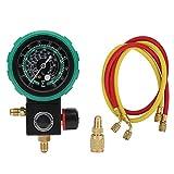 Manómetro de refrigerante Equipo de carga de aire acondicionado automático Herramientas de reparación Kit de manguera de recarga de refrigerante