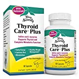 Terry Naturally Thyroid Care Plus - Iodine + L-Tyrosine, 60 Capsules - Thyroid Support Supplement with Selenium, Promotes Energy & Metabolism - Non-GMO, Gluten-Free, Kosher - 30 Servings