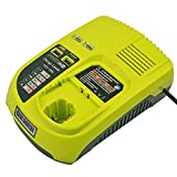 Chargeur 12V-18V Lithium-Ion et Ni-Mh/Ni-Cd 3A pour Ryobi ONE + P104 P105 P102 P103 P107 P108 (Compatible avec 260051002 P117 P118 P113 BCL1418)