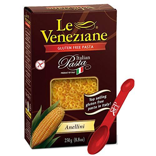 Le Veneziane Gluten Free Pasta Noodles ~ Anellini Noodles ~ Corn Pasta ~ 2 Count (8.8 Oz.)