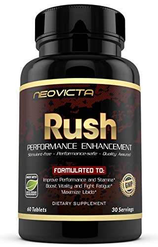 Neovicta Rush Male Enhancing Pills - Enlargement Testosterone Booster for Men - Increase Size, Stamina & Drive - Fast Acting Supplement for Performance - 60 Pills
