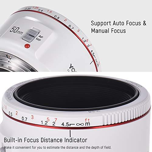OUYAWEI YONGNUO YN50mm F1.8 II Lente estándar de Gran Apertura para cámara réflex Digital Canon EOS 70D 5D2 5D3 600D.