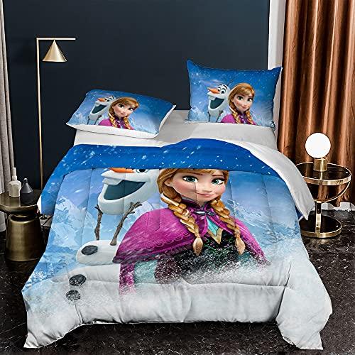 Stuyon Juego de funda de edredón, Aisha y Anna Funda de edredón para cama individual, 135 x 200 cm, con 1 funda de almohada, material de microfibra, ropa de cama de 2 piezas