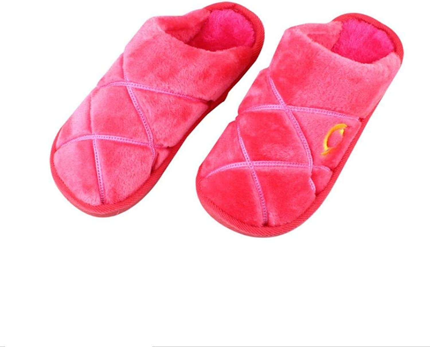Lady Slippers Ladies Warm Fall and Winter Leisure Cotton Slippers Home Slippers Purple Pink Red for Women Small Large