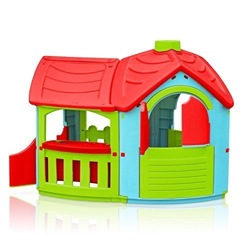 Marian – plast 300–0662 – Jeu Enfants – Maison Villa avec Culture (Couleurs Assorties)